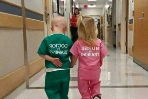 There's Nothing 'Cute' About This Photo of a Nurse & Doctor 'In Training'