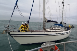 Two rescued after their 48ft yacht started to sink off the coast of Dublin