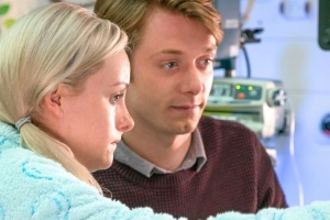 Corrie star teases Sinead's future as baby Bertie comes home