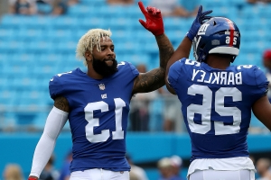 Giants RB Saquon Barkley weighs in on Odell Beckham Jr. trade: 'I was sad to see him go'