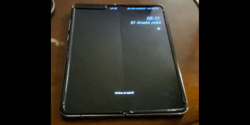 This could be our first look at the Galaxy Fold's rumoured creasing issue that Samsung is supposedly trying to fix
