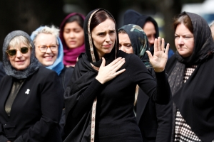 New Zealand women don headscarves to support Muslims after shootings