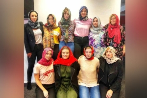 Women in New Zealand are donning a 'headscarf for harmony' to remember the mosque shooting victims