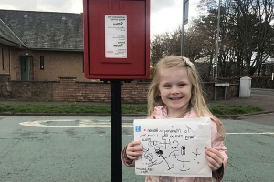 Girl, four, posts a Mother's Day card to 'Mummy in heaven' following her death from cancer - and receives a touching response from a 'kind stranger' at Royal Mail