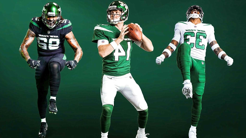 6389b4dcc02 Sport: New York Jets unveil new uniforms and Twitter reacts ...