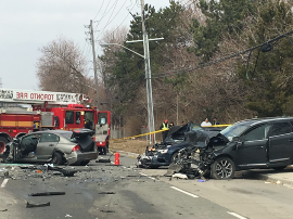 Canada: 1 dead, 2 injured after multi-vehicle crash in Toronto's