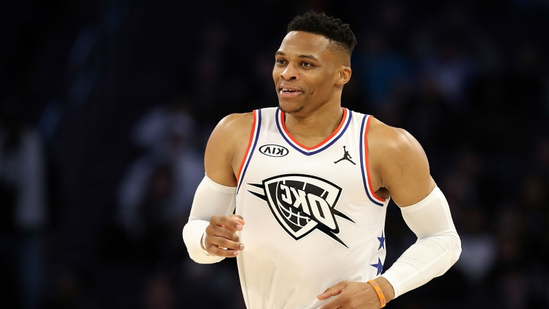 340406fce3d Sport  Russell Westbrook clinches third straight triple-double ...