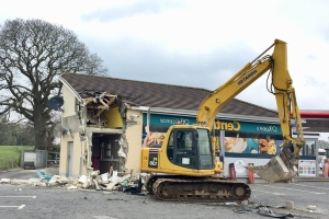 Dungiven ATM ripped from wall by thieves using digger