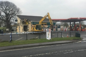 Thieves use digger to rip ATM from wall in Dungiven, Co Derry