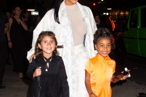 8d8e53aaccd0 Entertainment: North West and Penelope Disick Pose in Their School Uniforms  With Proud Moms Kim and Kourtney Kardashian - PressFrom - US