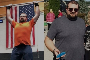 A Medical Scare Inspired This Guy to Join CrossFit and Lose 80 Pounds
