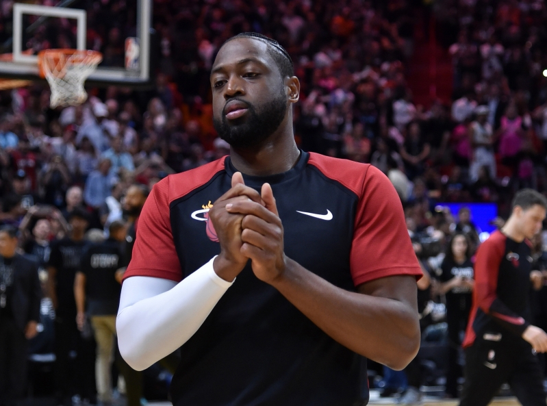 49ff74ea0ec Sport  NBA world pays tribute to Dwyane Wade prior to final game in ...