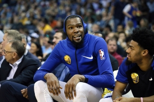Kevin Durant reflects on criticism for joining the Warriors: 'I didn't give a [expletive]'
