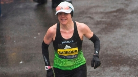 Canada's Krista DuChene a year older, 8 seconds faster at Boston Marathon