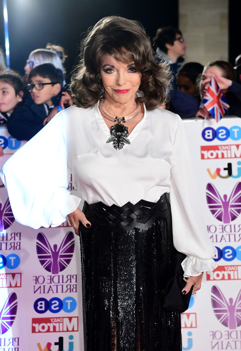Dame Joan Collins thanks firefighters after blaze at London flat