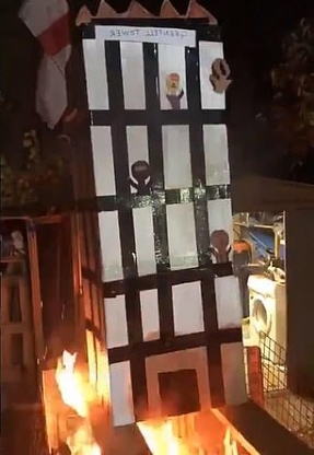 Property millionaire, 46, is charged over Grenfell Tower effigy video that provoked outrage across Britain