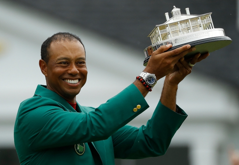 Tiger Woods did not win a fifth green jacket for his victory at the Masters