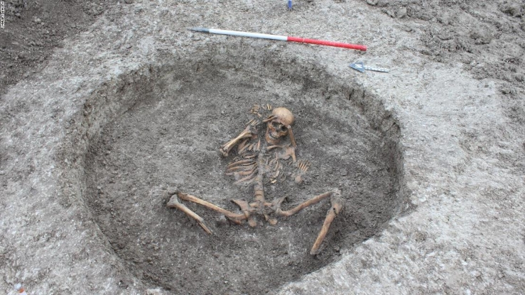Victims of 'human sacrifice' among skeletons discovered at prehistoric settlement
