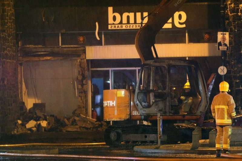 ATM theft in Bushmills sees digger, tractor and trailer set alight