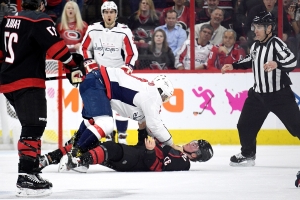 NHL Playoffs 2019: Alex Ovechkin, Canes react to Andrei Svechnikov fight: 'I hope he's okay'