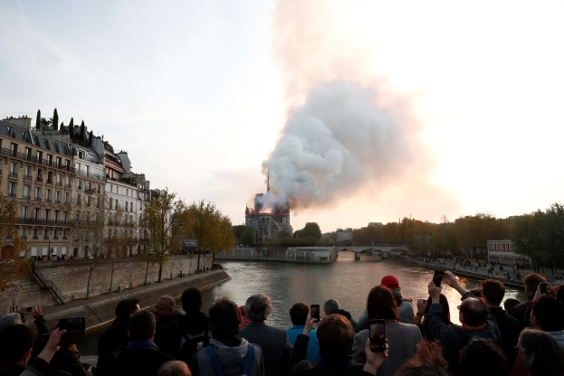 Notre Dame fire: Race against time to save Paris cathedral