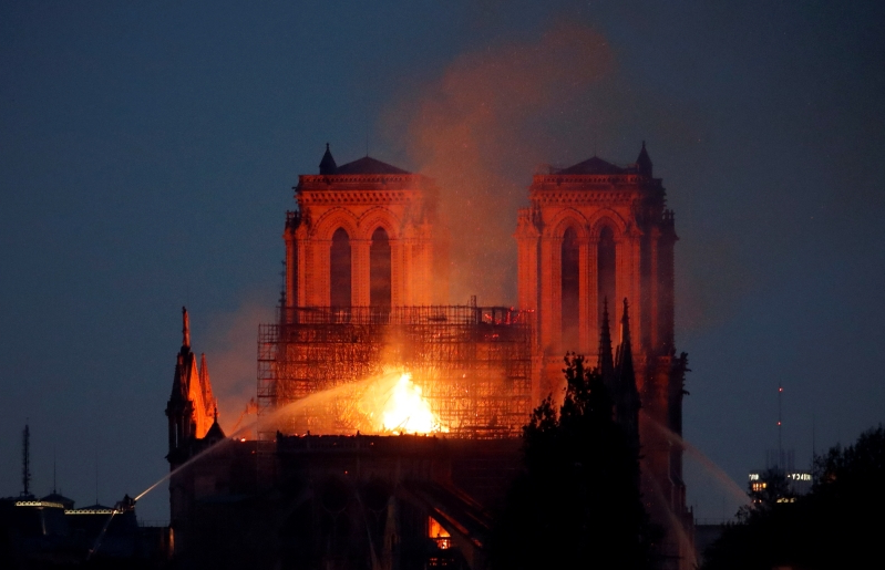 Revealed: 'Fearless' priest saved priceless relics from burning Notre-Dame