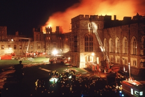 How the Queen's home, Windsor Castle, was rebuilt after fire nearly destroyed it
