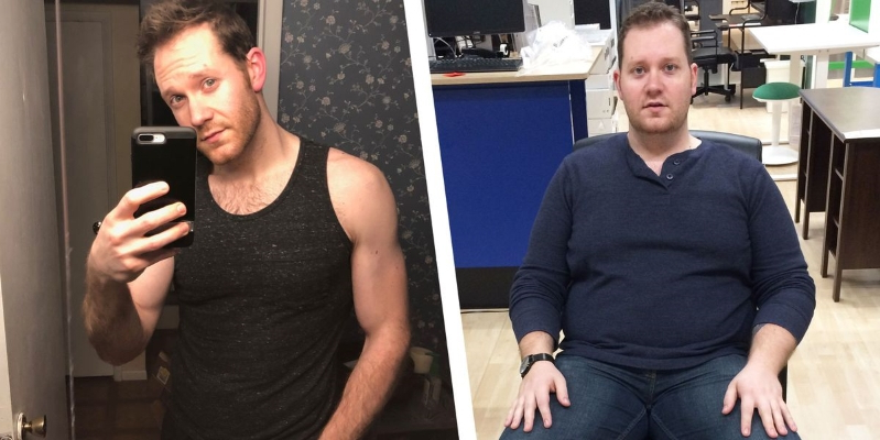 This Guy Lost More Than 100 Pounds Without Ever Setting Foot in the Gym