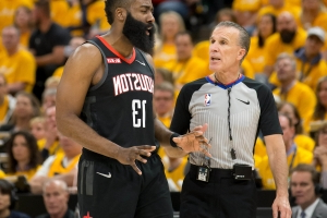 Harden, Crowder get face-to-face after foul early in Game 3
