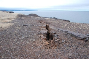 A chunk of Bell Island cracked off, and photos show more could fall