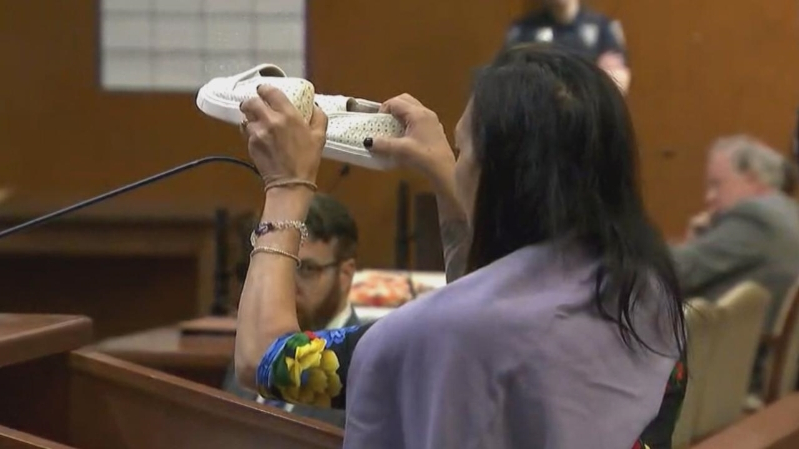 Devastated Mom Holds Up Dead Daughter's Shoes at Convicted Killer's Sentencing