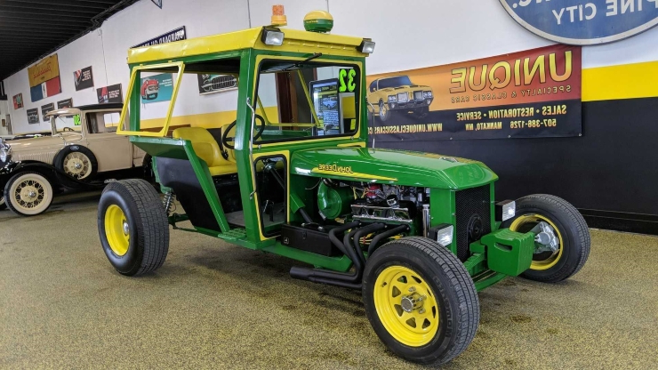 this john deere hot rod tractor is totally unique