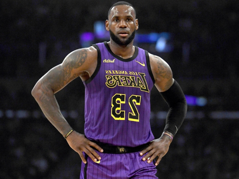 the best attitude ef617 9faa1 Sports: LeBron, Lakers top NBA jersey sales - PressFrom - Canada