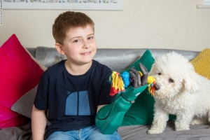 8-year-old makes history with 'superhero' bionic arm