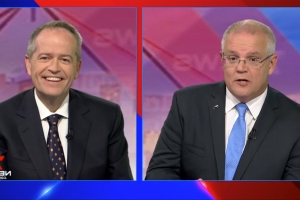 Scott Morrison and Bill Shorten battle over taxes, electric cars and climate change