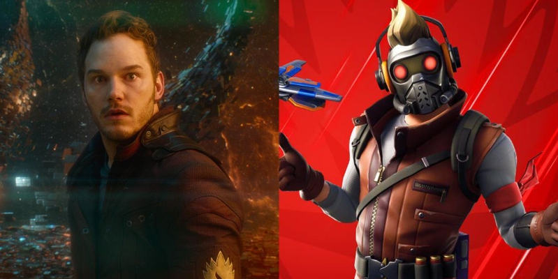 fortnite just added a star lord skin to its already awesome marvel - star lord fortnite leaked skin