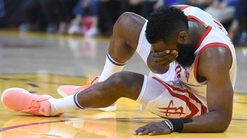 41b7b95202b James Harden injury update  Rockets star briefly leaves Game 2 vs. Warriors  after
