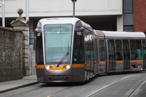 Woman died after collision with Luas in poorly lit area, inquest hears
