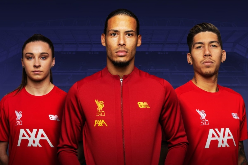 c83ba3475db Liverpool launch new official training kit with AXA. Liverpool FC has ...