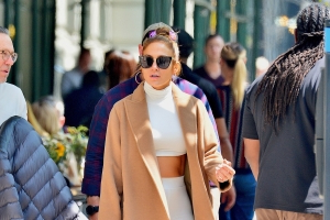 Jennifer Lopez Wore a $46 Matching Set With a $3,000 Coat
