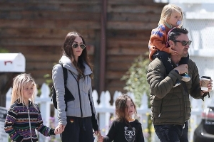 Megan Fox and Brian Austin Green step out together with their children after dismissing divorce