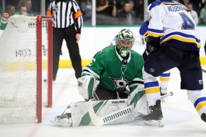 NHL Playoffs 2019: Stars' Ben Bishop night ends after hectic 38 seconds against Blues