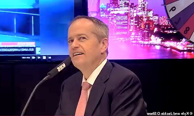 'That's mean isn't it!' Bill Shorten laughs off claims he 'runs like Phoebe from Friends' in interview with Kyle and Jackie O