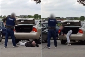 Extraordinary moment armed garda frees teenage boy from car boot in Finglas, North Dublin
