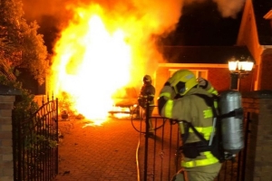 Gardai investigating after car goes up in flames outside North Dublin house in early hours