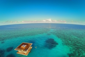 This Incredible Floating Hotel Room Is in the Middle of the Indian Ocean