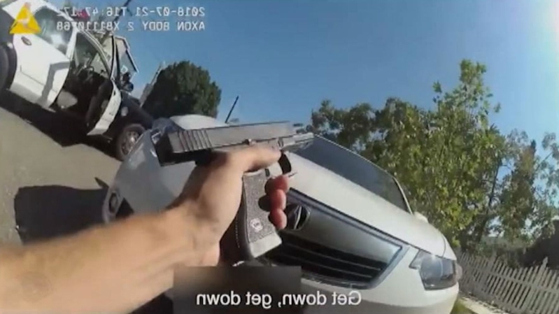 Footage of deadly police chase shows officers fire 70 shots at suspect