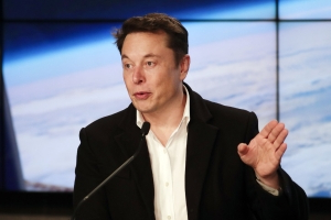 Elon Musk shows SpaceX's first internet satellites ready for launch