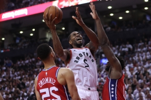 Last-second shot lifts Raptors over Sixers in Game 7