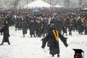 Colorado Students Have Epic Snowball Fight at Graduation Ceremony